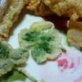 三つ葉の天ぷら♪
