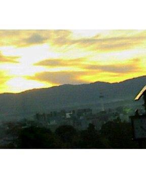 清水寺から観た夕焼け♪